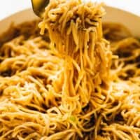 15 Minute Sesame Noodles with Maple Ginger Sauce