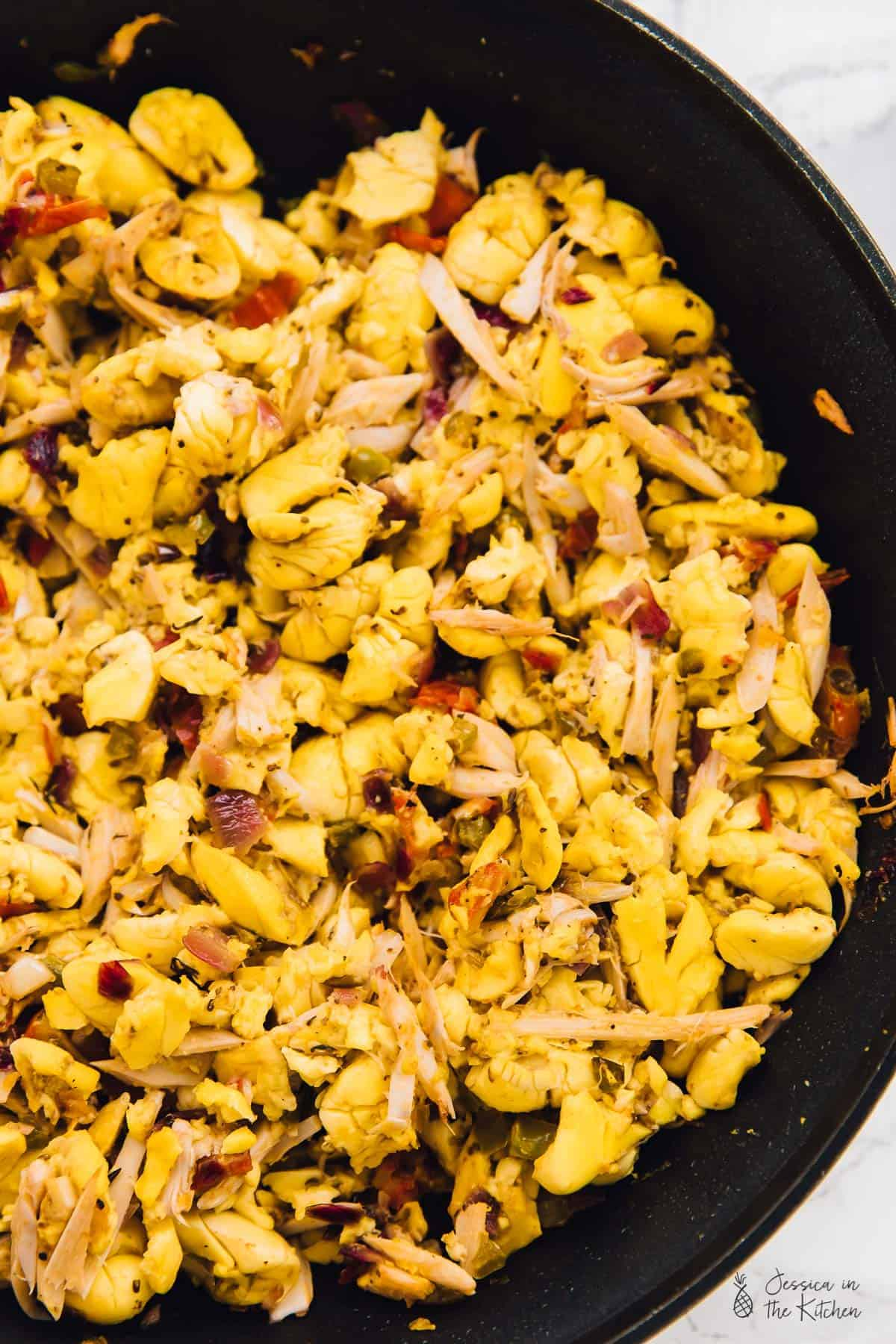 A vegan take on Jamaica's National Dish and my favourite breakfast in the world: Ackee and Saltfish. This is one of the most flavourful breakfasts ever and perfect comfort food! via https://jessicainthekitchen.com