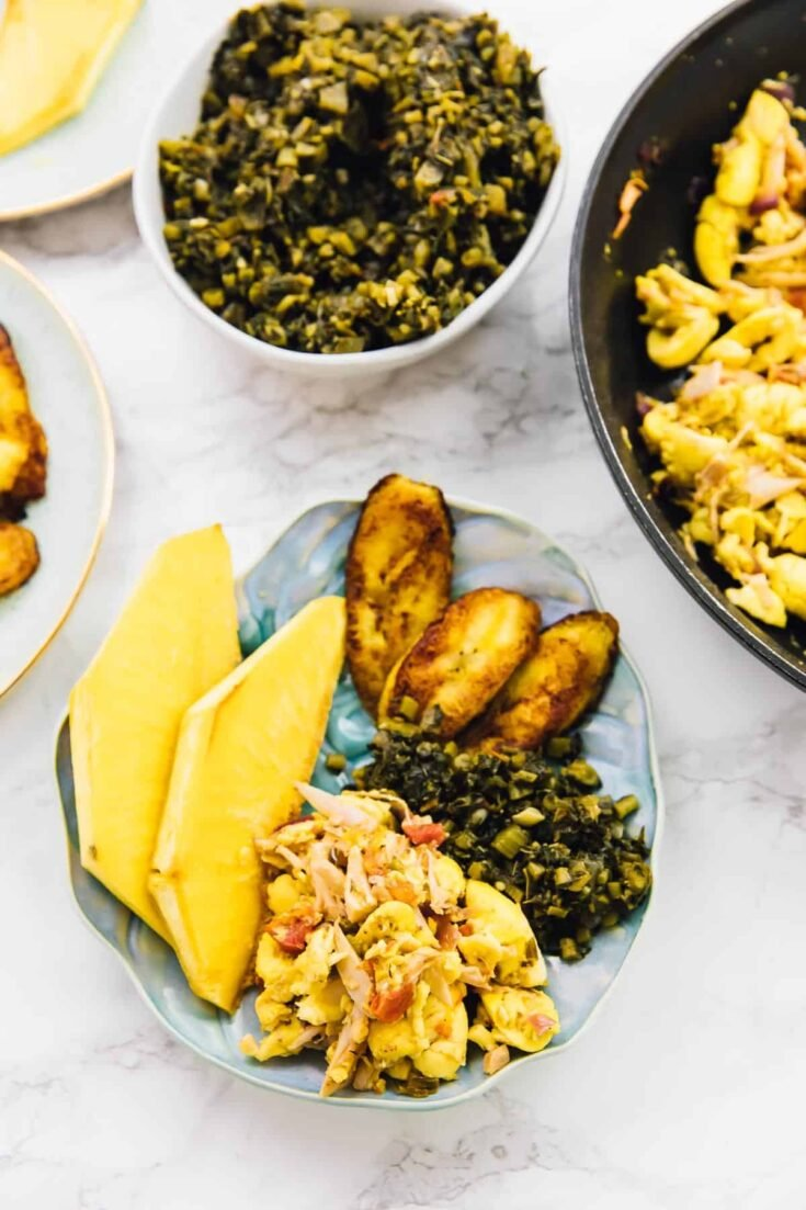Vegan Ackee and Saltfish (Jamaican Breakfast Feast)