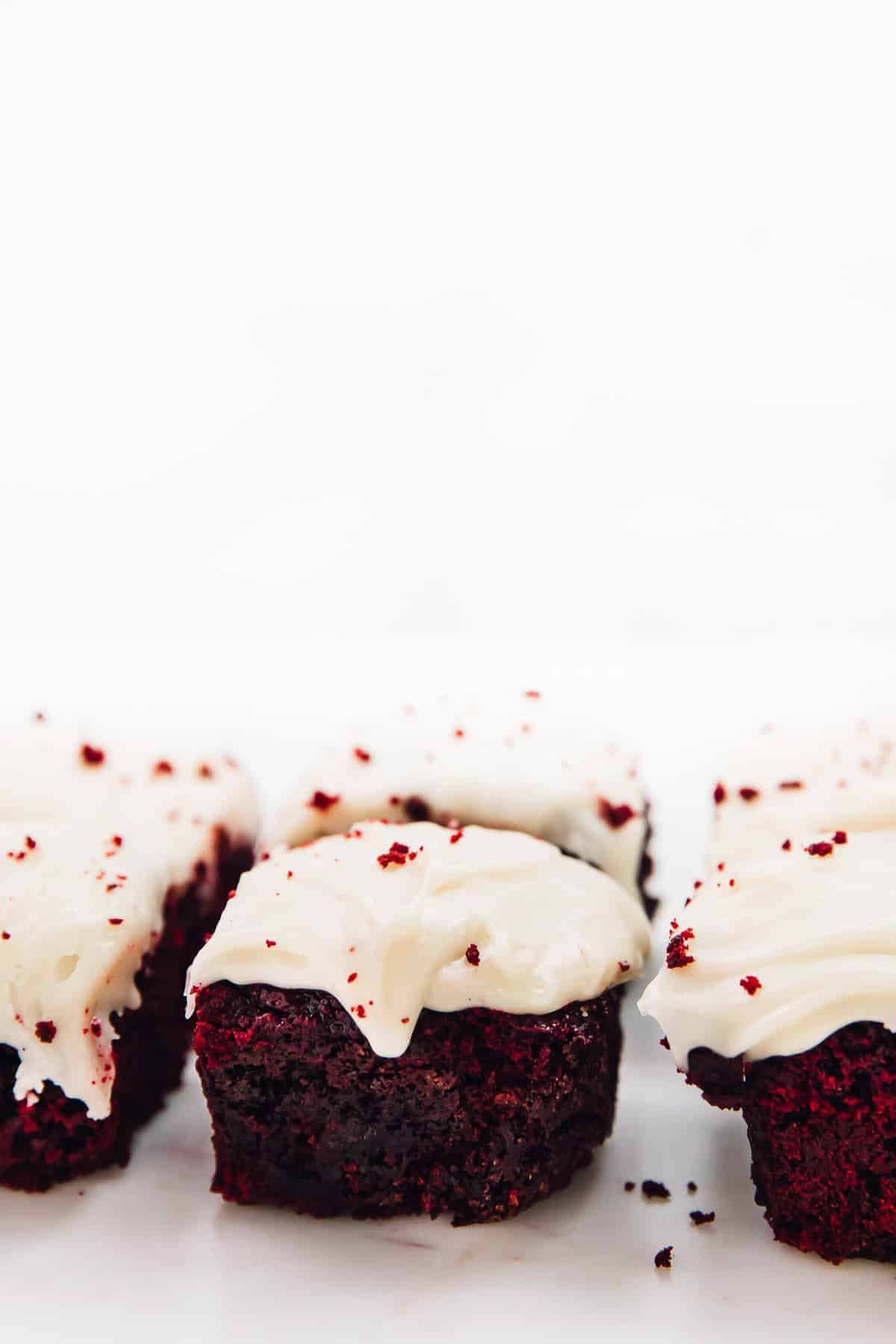 These Red Velvet Brownies are such a divine holiday treat! They're so amazing in flavour, and the vegan cream cheese frosting on top is the perfect final touch!