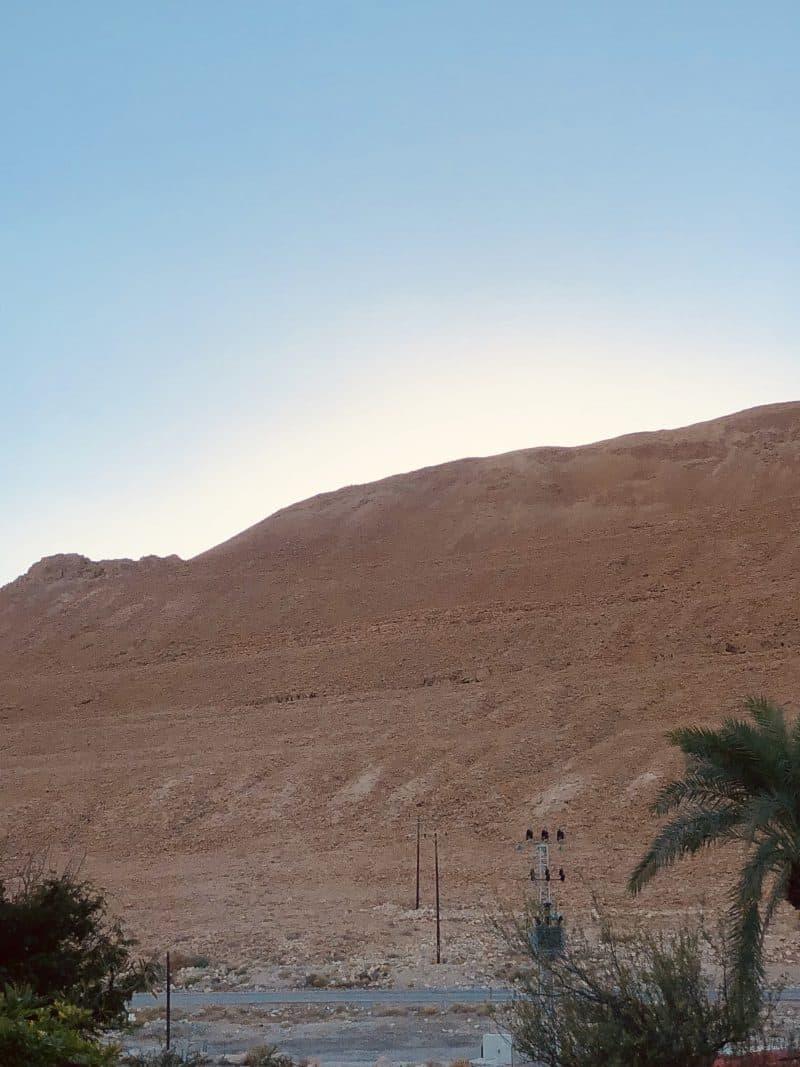 A hillside in Israel.