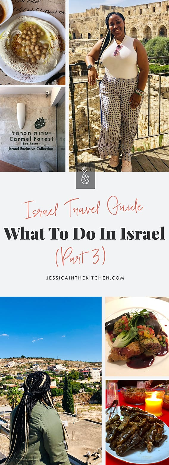 A pinterest pin for what to do in israel.