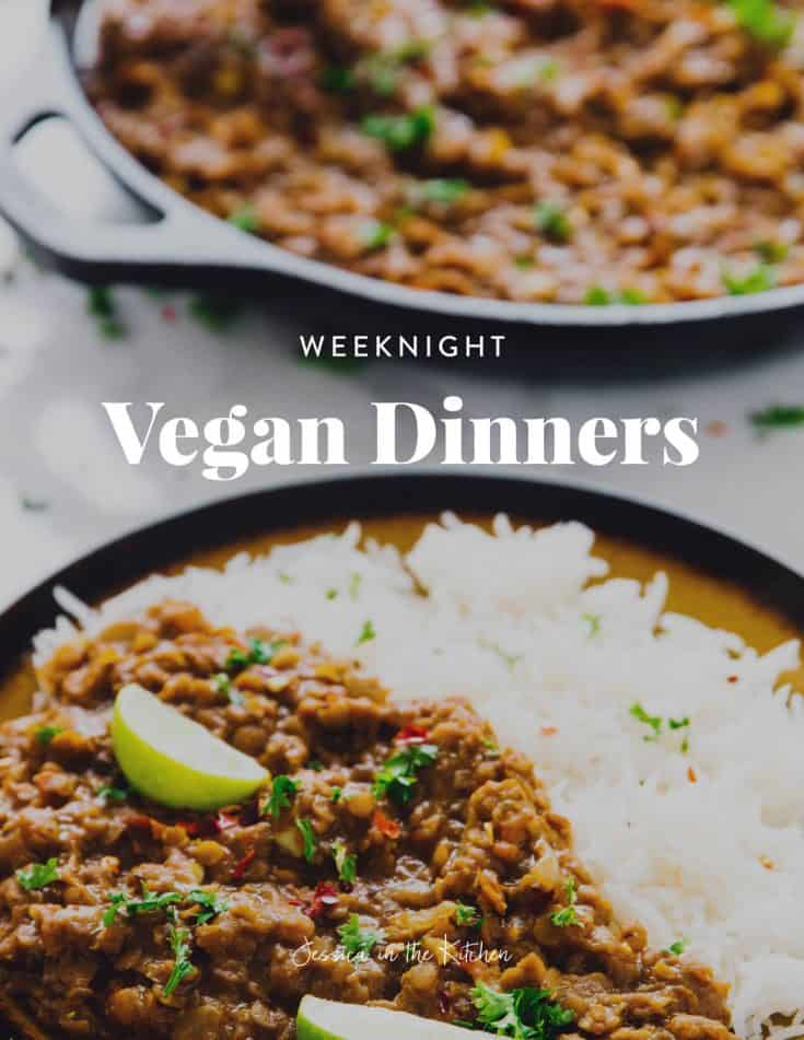 Want a free cookbook? Click here to download Jessica in the Kitchen's Weeknight Vegetarian Dinners! | https://jessicainthekitchen.com