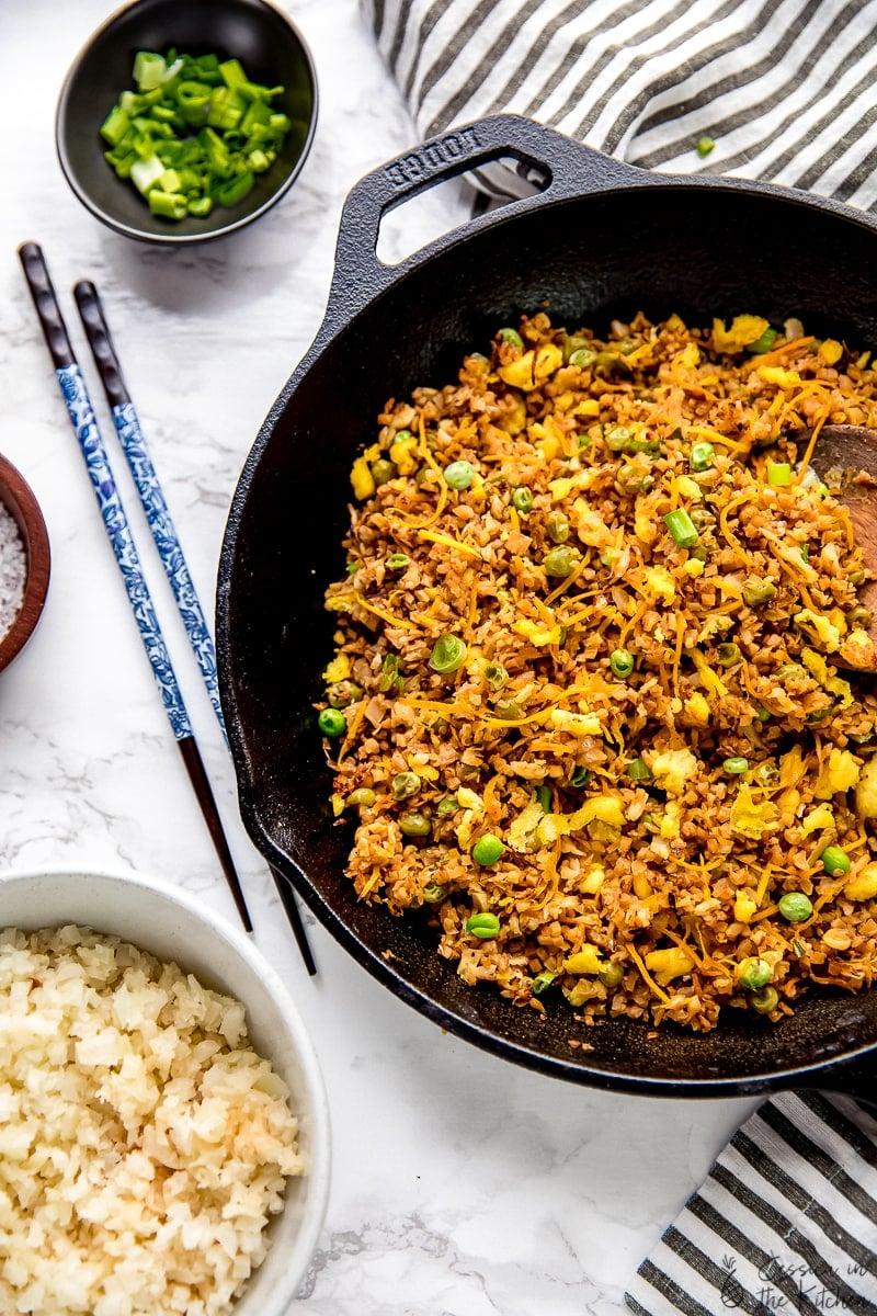 Cauliflower Fried Rice (Vegan)