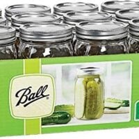 Ball Mason 32 oz Wide Mouth Jars with Lids and Bands, Set of 12 Jars