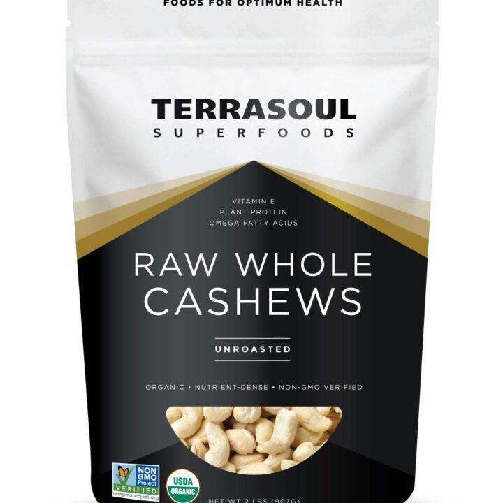 Terrasoul Superfoods Organic Raw Whole Cashews