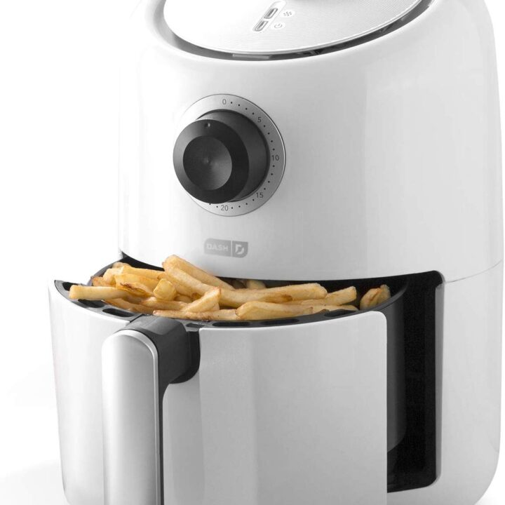 Dash Compact Air Fryer 1.2 L Electric Air Fryer Oven Cooker with Temperature Control, Non Stick Fry Basket, Recipe Guide + Auto Shut off Feature