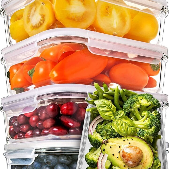 Prep Naturals Glass Meal Prep Containers (5 Pack)