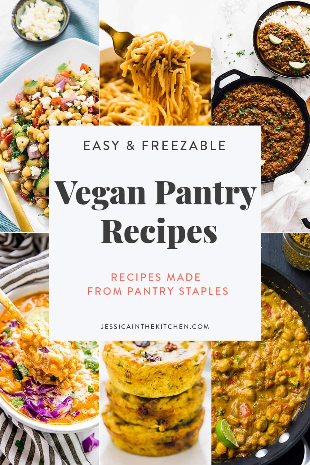 Here's a short list of some of my favourite easy Vegan Pantry Recipes - Recipes made from Pantry Staples. Including lots of great and practical tips for storing your meals, prepping them, and ensuring you extend the shelf life of your ingredients!