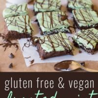 Gluten Free Frosted Mint Brownies (Vegan)