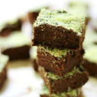 Mini Mint Chocolate Brownies (Gluten-Free, Vegan, Allergy-Free)