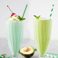Shamrock Shake Two Ways: Healthy or Treat Yo Self!