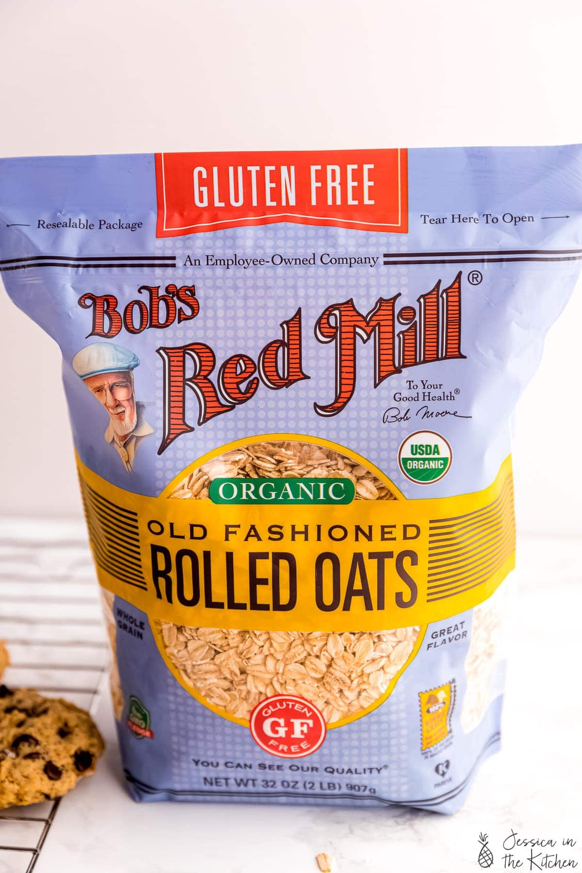 A pack of gluten free rolled oats.