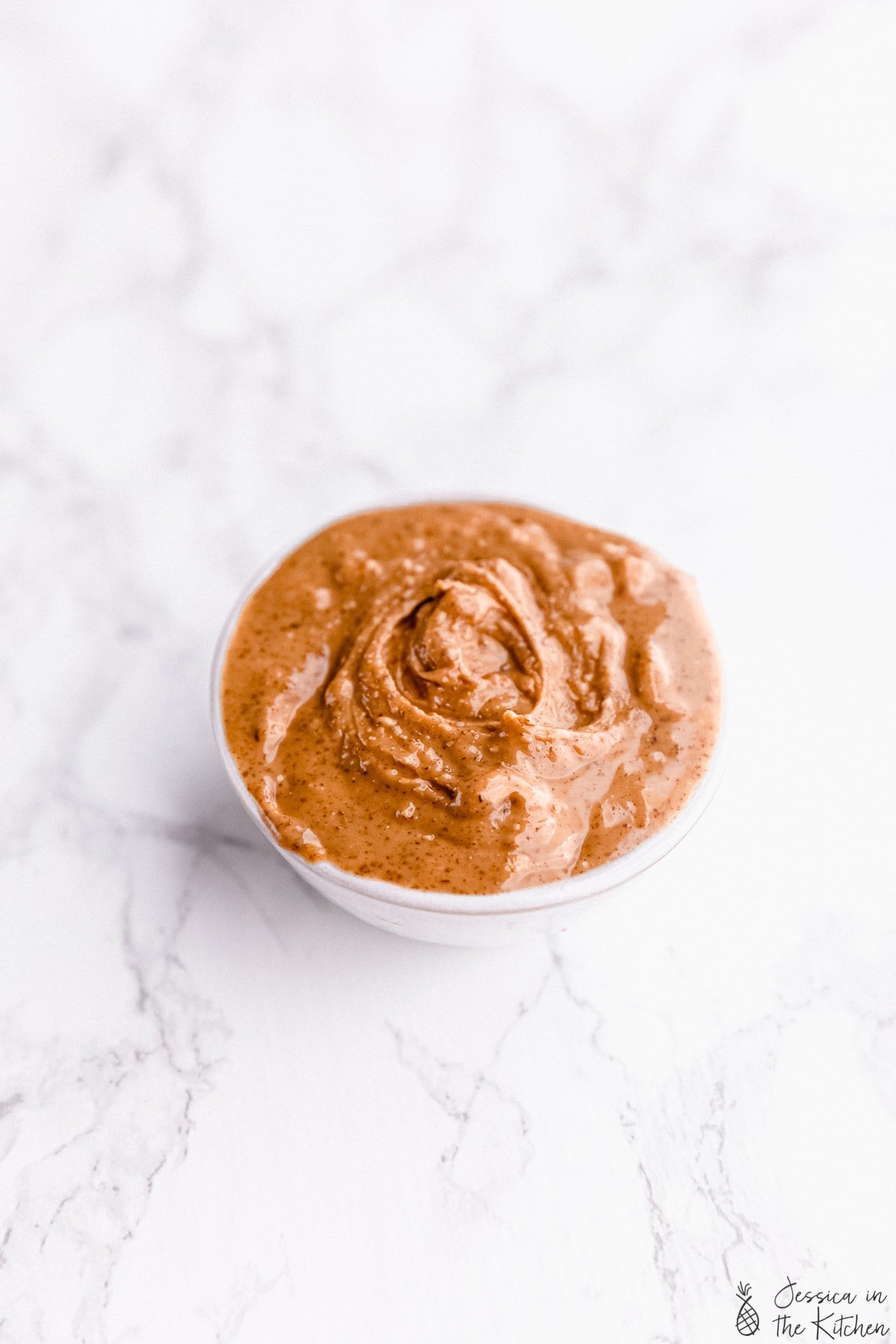 peanut butter in a small container
