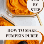 long pin of making pumpkin puree