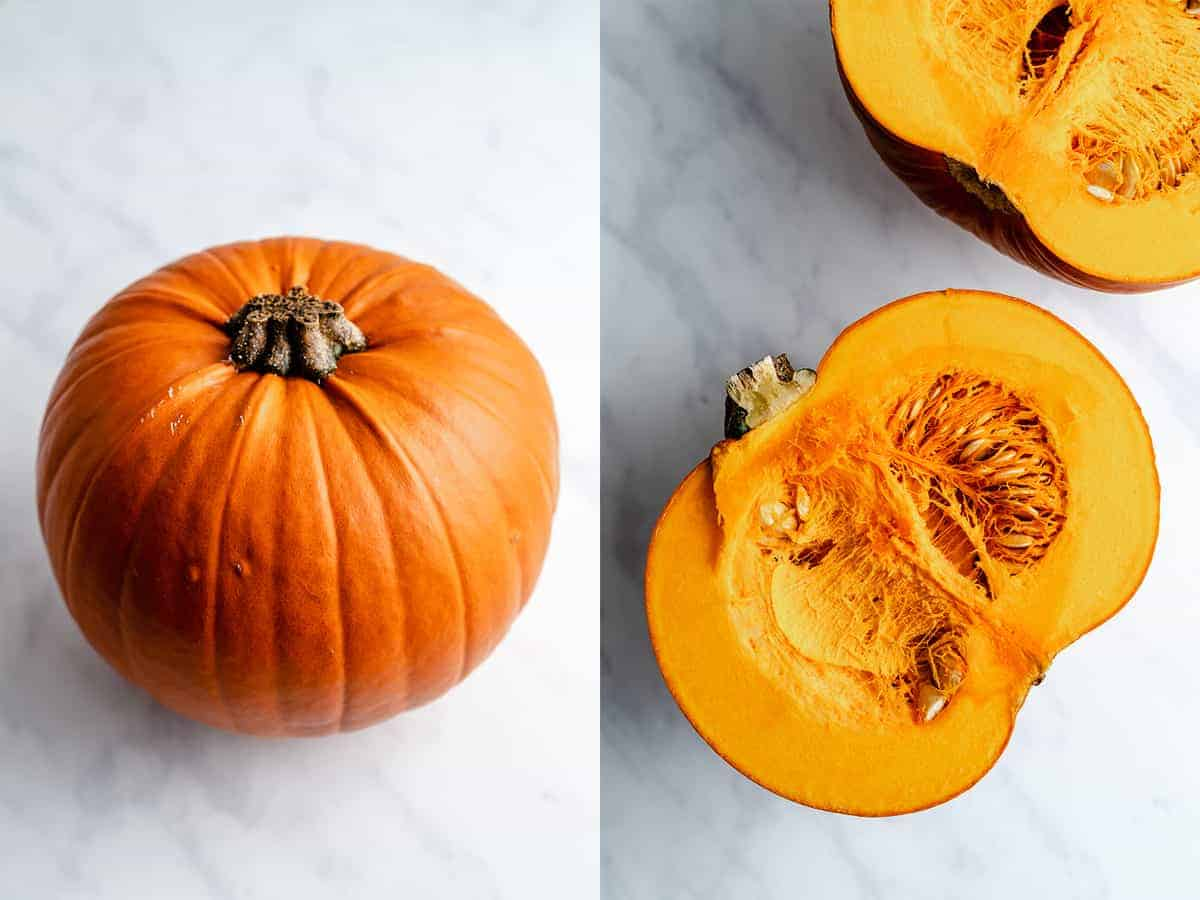 step by step photos on how to make pumpkin puree