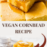 long pin of two photos of cornbread