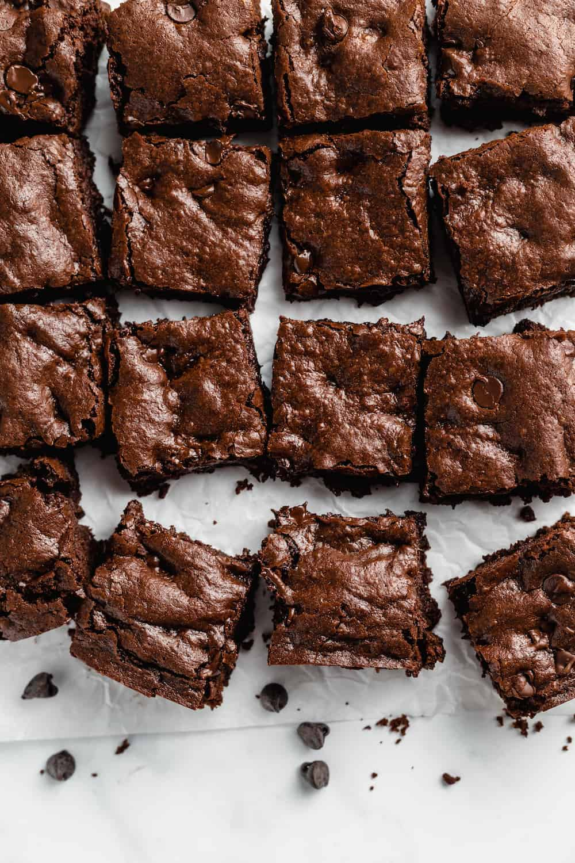 12 chocolate chip brownies.