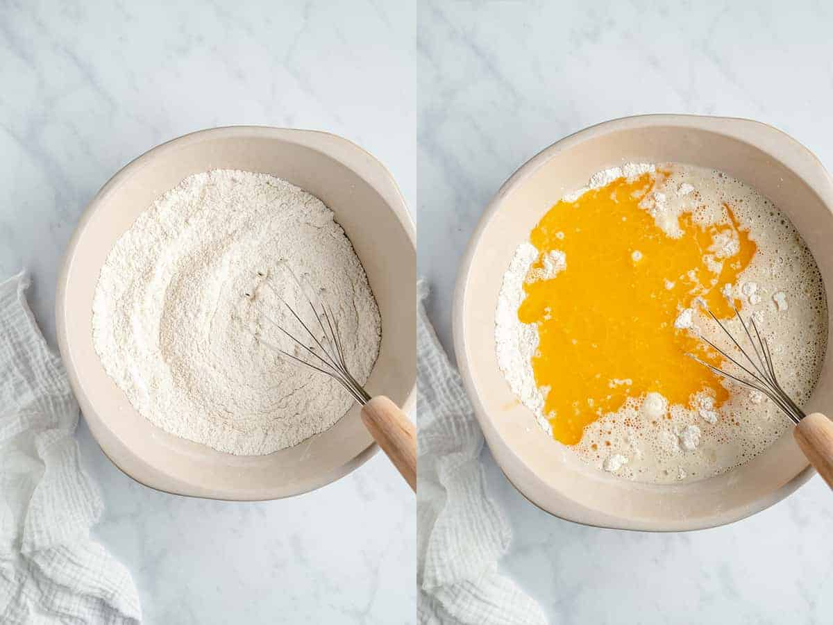 step by step photos of making of the vegan vanilla cake