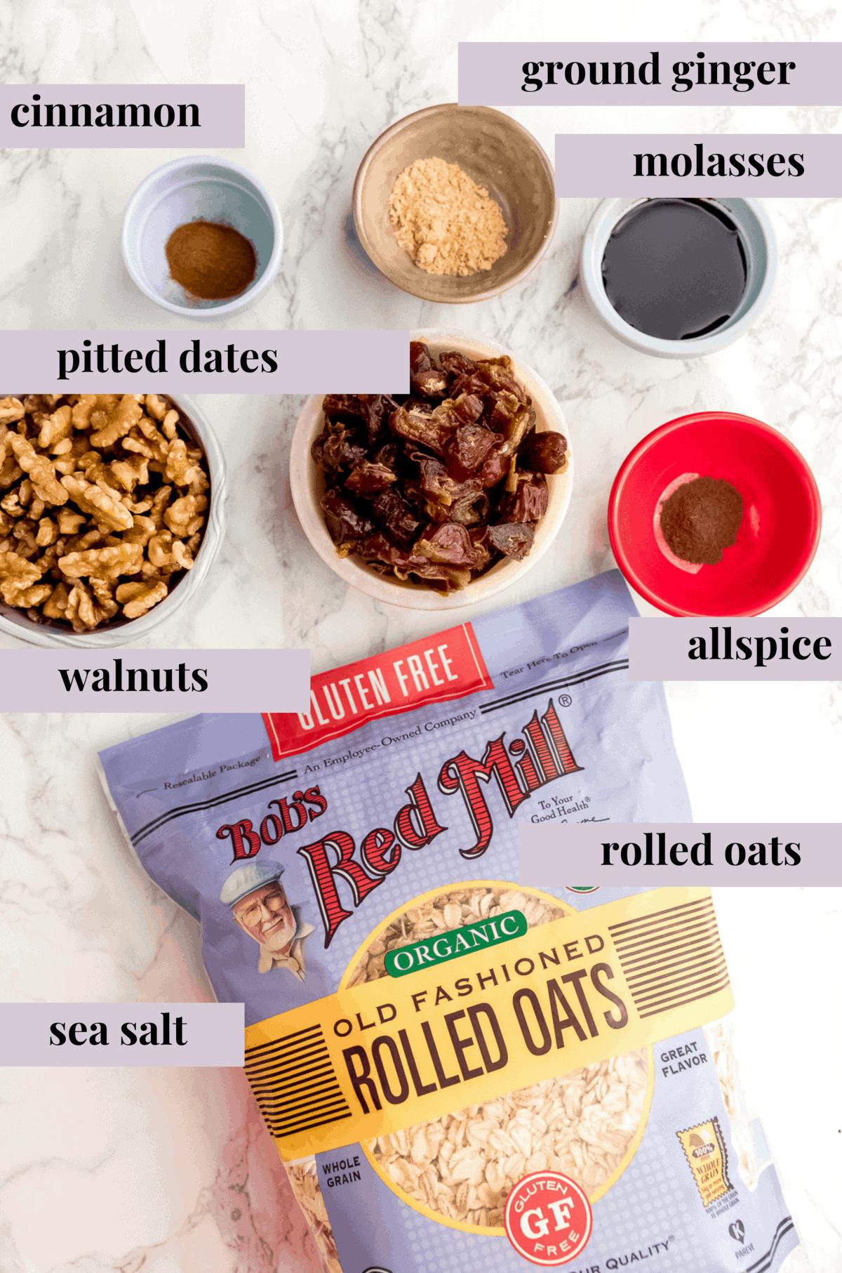 ingredients for energy bites