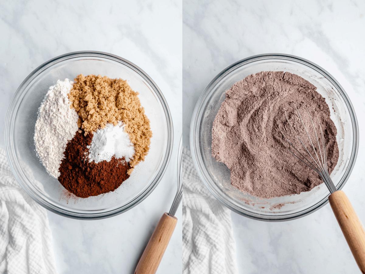 step by step vegan chocolate cupcake photos