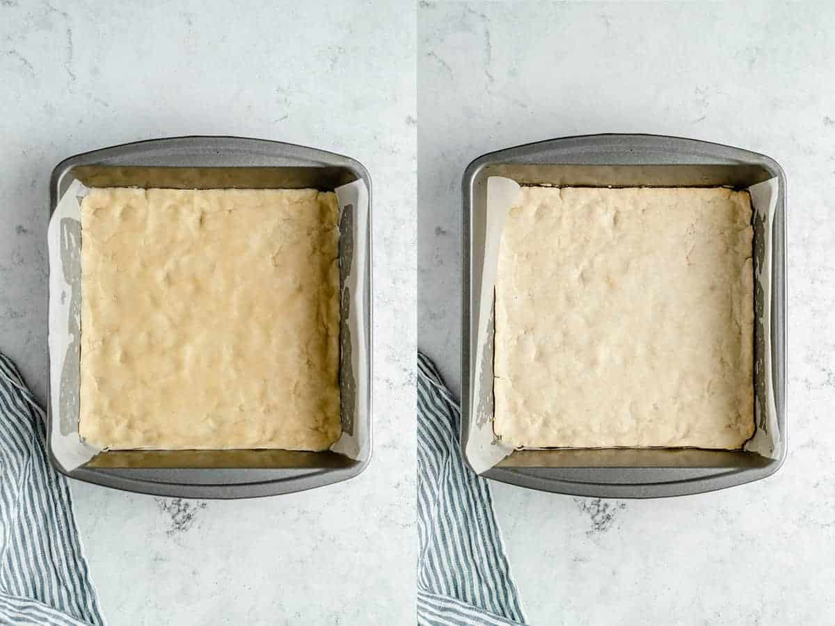 step by step making of the lemon bars