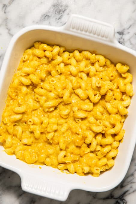 Butternut mac and cheese without breadcrumbs.